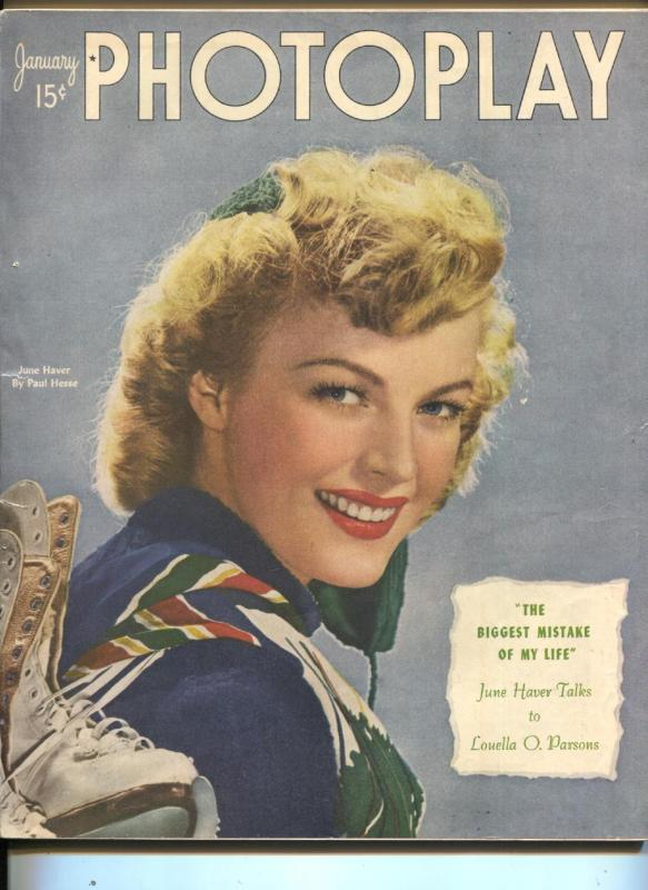 Photoplay-June Haver-Bob Hope-Vic Mature-Roy Rogers-Jan-1948