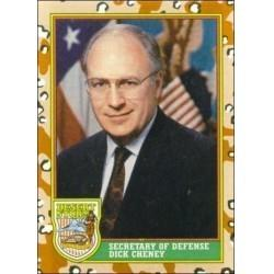 1991 Topps Desert Storm SECRETARY OF DEFENSE DICK CHENEY #3