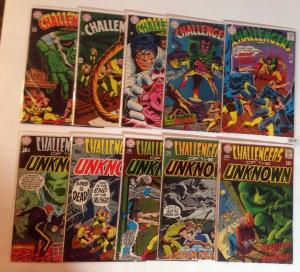 Challengers Of The Unknown 61 62 63 64 65 66 67 68 69 70 FN/VF Lot Set Run