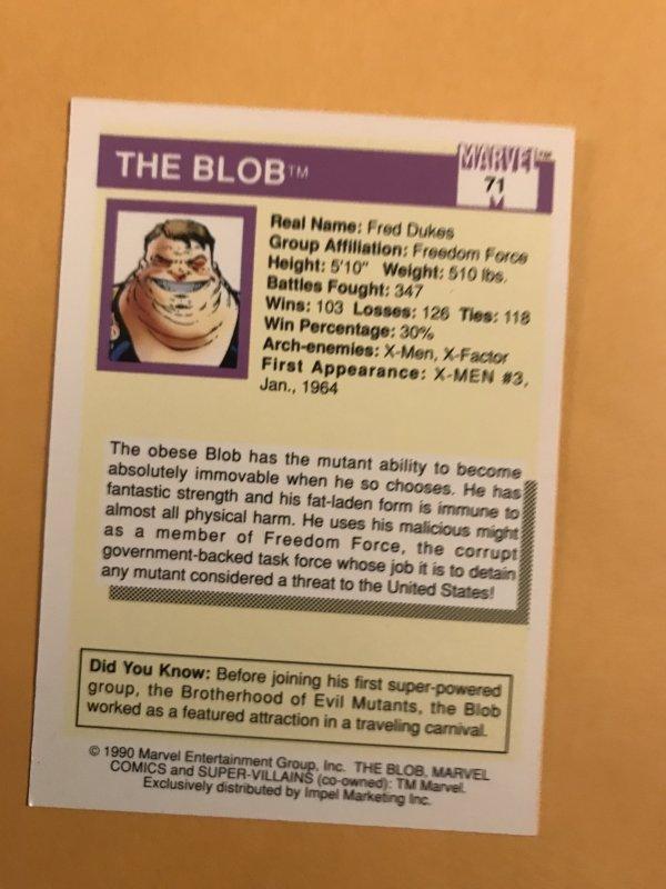 BLOB #71 : 1990 Marvel Universe Series 1,  NM/M,  X-Men