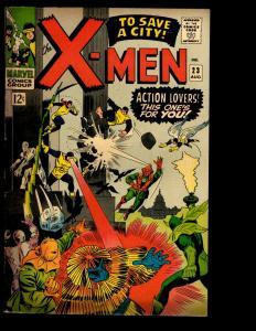 (Uncanny) X-Men 23 VG/FN Marvel Comic Book Cyclops Beast Angel Iceman NE3