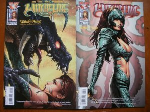 2 Near-Mint Image Top Cow Comic WITCHBLADE #84 #85 Marz Choi Regla (Witch Hunt)