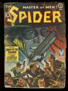 THE SPIDER OCT 1942 ARMY OF THE DAMNED STOCKBRIDGE PULP VG-