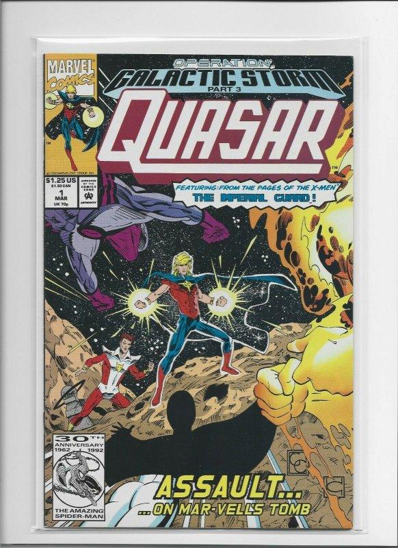 Lot of 5 Quasar Copper Age Comics, #2,3,4,5 & #32 Error Copy! Bagged & Boarded