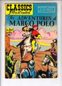 Classics Illustrated #27 (Sep-51) FN+ Mid-Grade Marco Polo