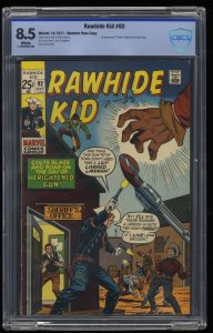 Rawhide Kid #92 CBCS VF+ 8.5 White Pages Western Penn Marvel Comics