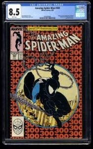 Amazing Spider-Man #300 CGC VF+ 8.5 White Pages 1st Venom!
