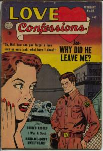 Love Confessions #35 1954-Quality-Ogden Whitney romance art-G