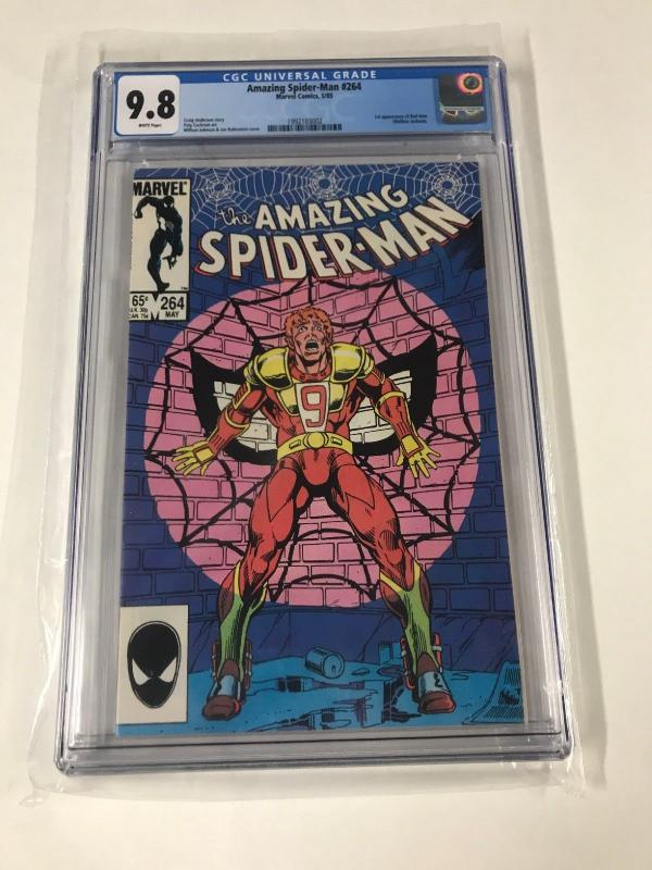 Amazing Spider-man 264 Cgc 9.8 White Pages New Cgc Case