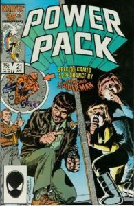 Power Pack (1984 series) #21, NM- (Stock photo)
