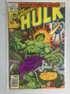 Incredible Hulk #224 News Stand edition 5.0 VG FN (1978 1st Series)