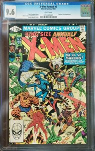 X-Men Annual 5 CGC 9.6 Fantastic Four Marvel 1981