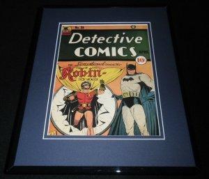 Detective Comics #38 Framed 11x14 Repro Cover Display Batman Robin