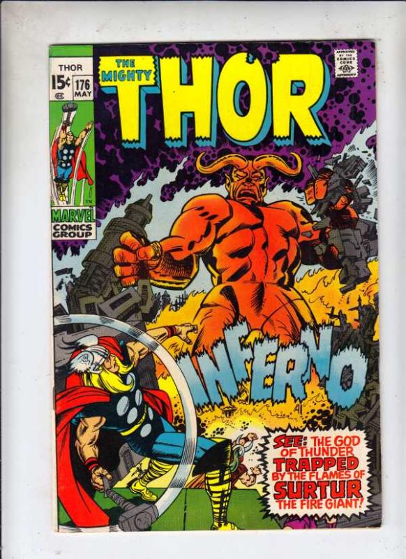 Thor, the Mighty #176 (May-70) VF+ High-Grade Thor