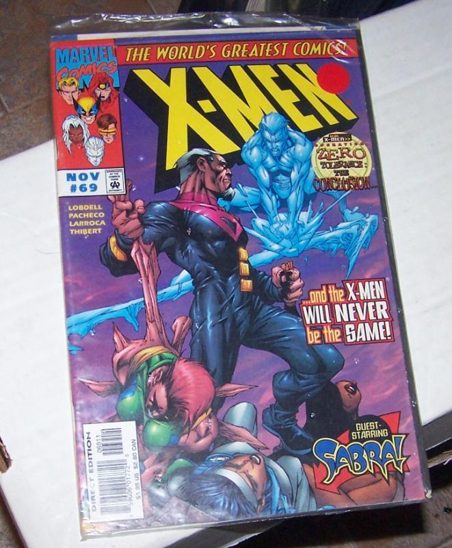 X MEN  # 69 marvel 1997   WOLVERINE  OPERATION ZERO TOLERANCE +SUBSCRIPTION