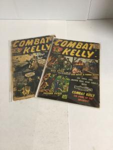 Combat Kelly 42 44 Last Issue Gd Good 2.0 Atlas Comics Silver Age