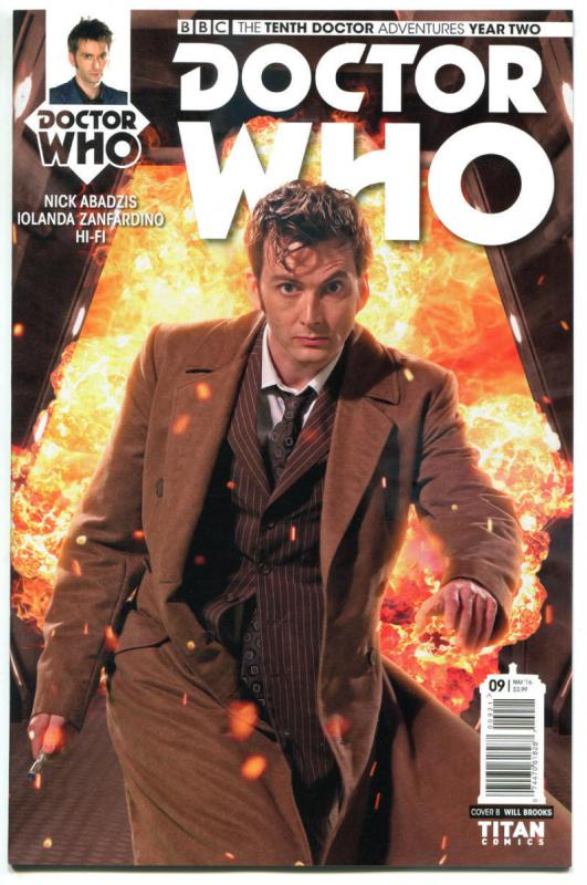 DOCTOR WHO #9 B, NM, 10th, Tardis, 2015, Titan, 1st, more DW in store, Sci-fi
