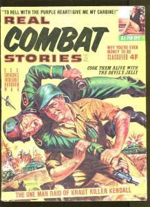 REAL COMBAT STORIES DECEMBER 1963-NORMAN SANDERS-WW2-CHEESECAKE PICTURES-VG/FN