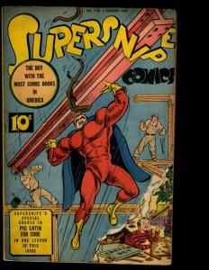 Supersnipe Comics Vol. # 2 # 1 VF- Comic Book Golden Age 1944 Pig Latin NE3