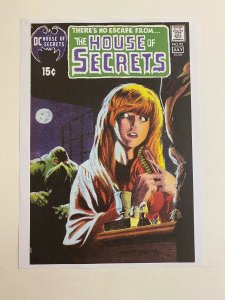 The House of Secrets #92 1st app Swamp Thing DC Comics poster by Berni Wrightson