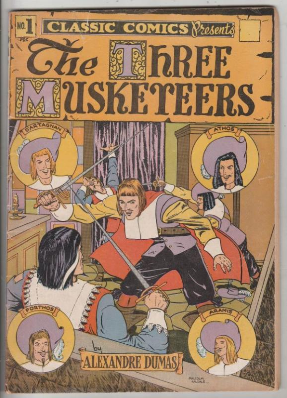 Classics Comics #1 (Jul-44) VG+ Affordable-Grade The Three Muskateers
