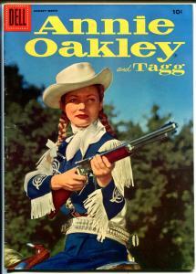 Annie Oakley #6 1956-Dell-Gail Davis TV photo cover-FN