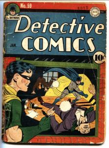 DETECTIVE Comics #59 1942 Batman-Robin-2nd appearance of Penguin-Golden-Age Comi