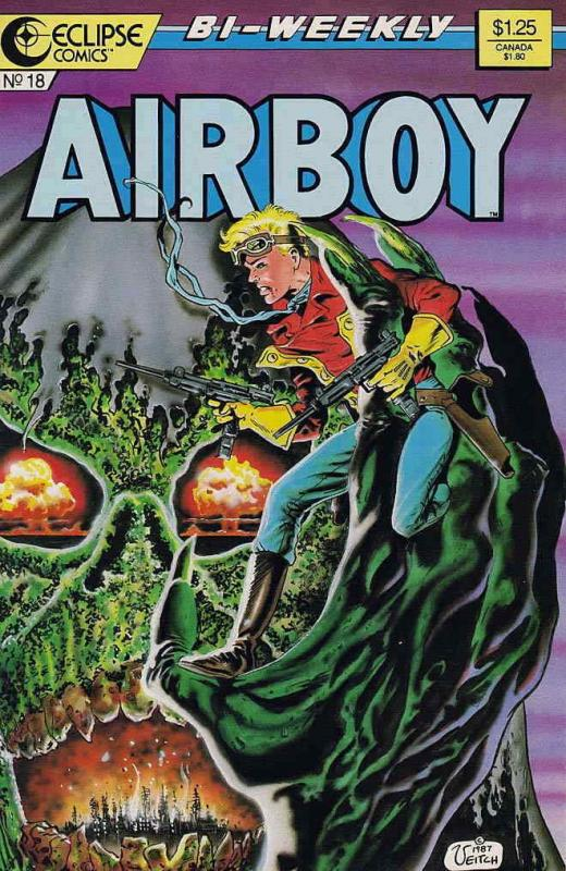 Airboy #18 VF/NM; Eclipse | save on shipping - details inside