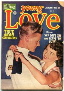 YOUNG LOVE #29 1952-golde age romance-KIRBY ART VG