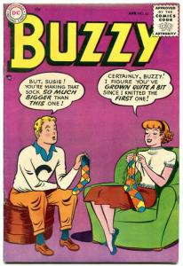 Buzzy #63 1955-knitting cover- DC Teen Humor FN-