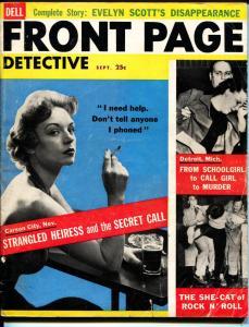 Front Page Detective-9/1956-Murder-Killer-Execution-VG
