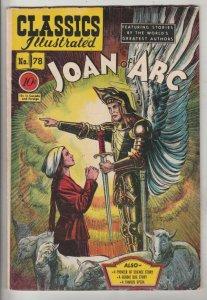 Classics Illustrated #78 (Dec-50) VF High-Grade Joan of Arc