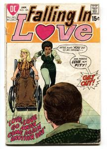 Falling In Love #120 1971-DC-African American girl-wheelchair-rare-unique-G