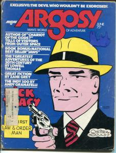Argosy 6/1974-Popular-Chester Gould-Dick Tracy-Zane Grey-Peter Banchley-FR/G