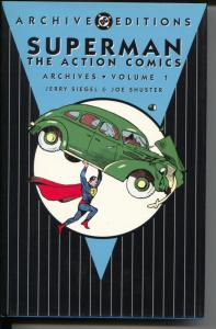 Superman The Action Comics Archives-Vol 1- #1-11-Color Reprints-Hardcover