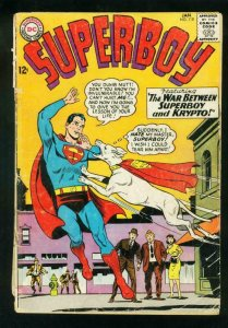SUPERBOY #118 1965-DC SILVER AGE-KRYPTO COVER-GD