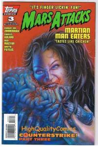 MARS ATTACKS #3, NM, UFO,Aliens, Horror, Man Eaters, 1995, more MA in store