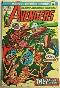 AVENGERS#115  FN/VF 1973 MARVEL BRONZE AGE COMICS