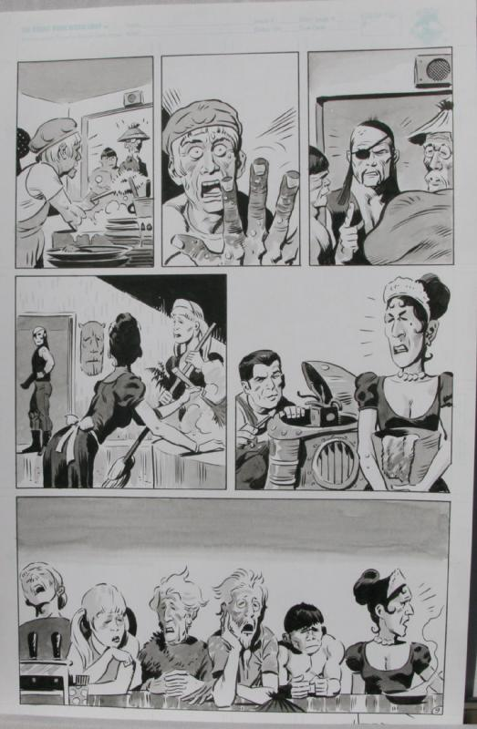 TIGRESS TALES #5 Original Mike Hoffman art, Page #9, Signed, published