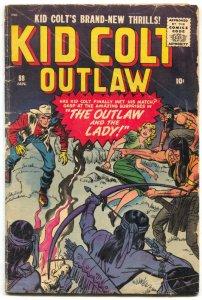 Kid Colt Outlaw #88 1960- Jack Kirby- Al Williamson- Western VG