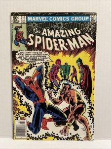 Amazing Spiderman #215 Newsstand