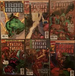 IRON MAN MARVEL VOLUME 2 1997 #9-12 plus #2 NM CONDITION 6 BOOK LOT