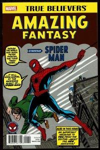 True Believers Amazing Fantasy #15 (Sep 2017, Marvel) 9.2 NM-