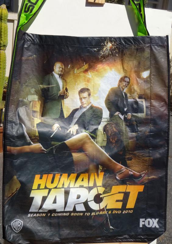 HUMAN TARGET SDCC BAG, Tote, Swag, 2010, 23x28, San Diego Comics Convention