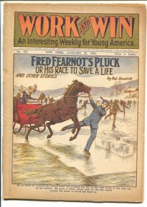 Work and Win #767 1/17/1913-Fred Fearnot's Pluck-pulp thrills-FR