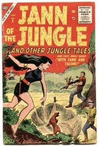 Jann of The Jungle  #9 1956- Atlas comics- Good girl art VG