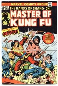 Master of Kung Fu #22 1974 comic book Marvel VF