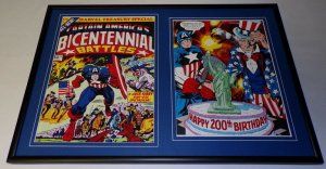 Captain America Bicentennial Battles Framed 12x18 Cover Display