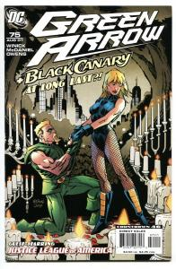 GREEN ARROW #75-2007-BLACK CANARY proposal issue . DC