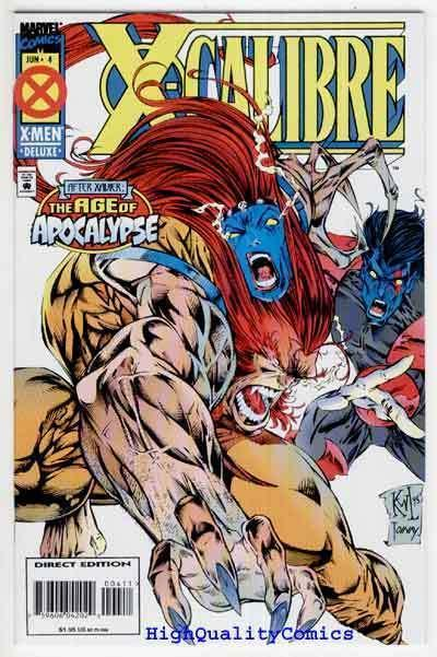 X-CALIBRE #4, NM+, Age of Apocalypse, Warren Ellis, more Marvel in store
